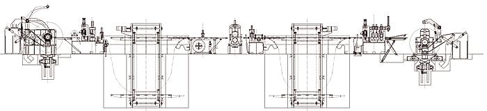 压分料装置,阻尼装置,收卷机,出料小车,液压系统和电气控制系统组成